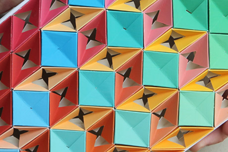 Close-up of a Paper Kaleidoscope